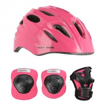 Σετ Κράνος (48-52)  Προστατευτικά Άκρων MTW01H210 Ροζ Extra Small