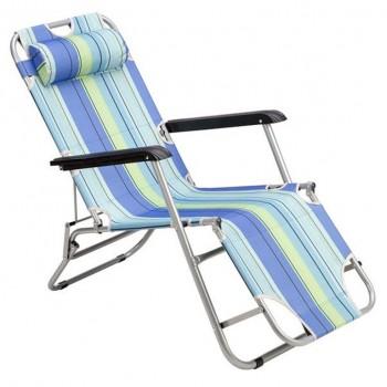 Ξαπλώστρα - Πολυθρόνα NC3024 Μπλε SUN LOUNGER NILS CAMP
