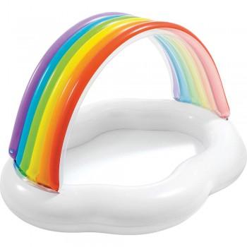 Πισίνα με σκίαστρο Intex Rainbow Cloud Baby Pool