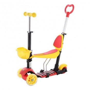 Πατίνι Παιδικό HLB07 4 in 1 Μαύρο/Κίτρινο/Κόκκινο ME LED ΦΩΤΑΚΙΑ NILS EXTREME