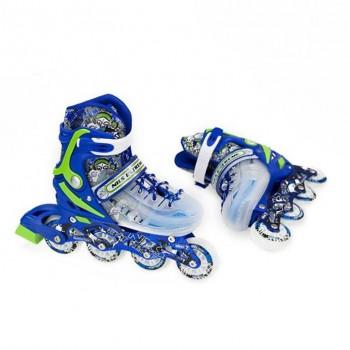 Αυξομειούμενα Πατίνια Roller NJ 1812A INLINE SKATES NILS EXTREME ΜΠΛΕ Παιδικά - SMALL (29-33)