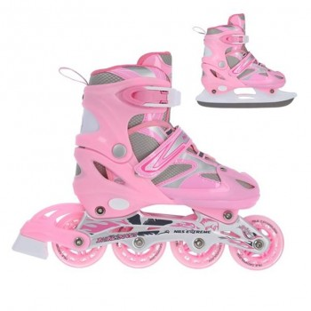 Αυξομειούμενα Roller NH18366 2 ΣΕ 1 Ροζ Small(31-34) IN-LINE SKATES/HOCKEY ICE SKATES