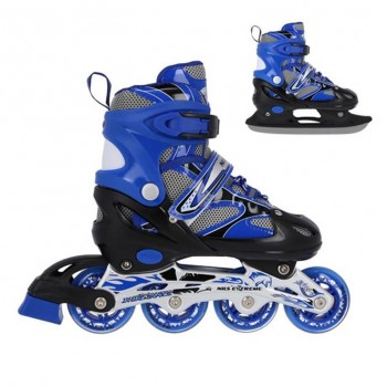 Αυξομειούμενα Roller NH18366 2 ΣΕ 1 Μπλε Large(39-42) IN-LINE SKATES/HOCKEY ICE SKATES